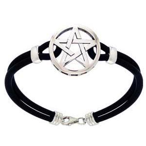 Armbånd med pentagram -  21cm fra N/A fra bog & mystik