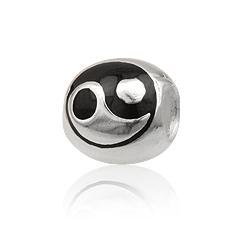 Charm led med Yin Yang symbol