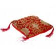 Syngeskåls pude - rød - 18x18x5 cm