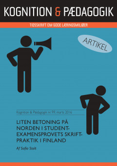 Liten betoning på norden i studentexamensprovets skriftpraktik i Finland - E-bog