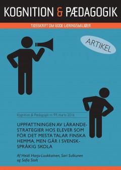 Uppfattningen av lärandestrategier hos elever som för det mesta talar finska hemma, men går i svenskspråkig skola - E-bog