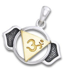 Chakra vedhæng 6 Chakra - Ajna - Pinealchakraet - 23mm - u/kæde