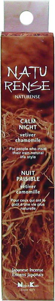Naturense - Calm Night - Vetiver & Camomille - Japansk røgelse