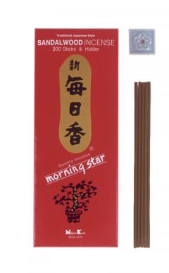 Japansk røgelse - Sandalwood - Morning Star - Big Box - Røgelsespinde