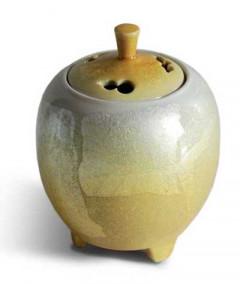 Japansk Røgelsesholder - Ginsai Yellow