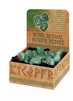 Runesæt - Grøn Aventurin