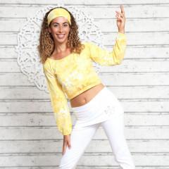 Yoga Top Langærmet - Gul - Spirit of om