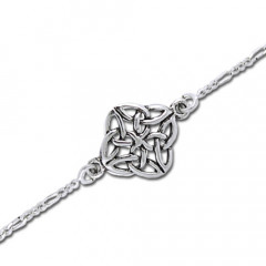 Armbånd med Keltisk knude mønster - 17cm
