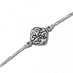 Armbånd med Keltisk knude mønster - 20,5cm