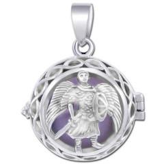 Engleklokke / Harmony ball med Ærkeenglen Michael - u/kæde