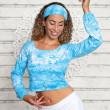 Yoga Top Langærmet - Turkis - Spirit of om