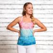 Yoga top - Mandala indigo/peach - Spirit of om