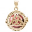 Engleklokke / Harmony ball med Treenighedssymbol - u/kæde