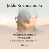 What Is the Substance of Thought? - Brockwood Park and Gstaad 1975 - E-lydbog Jiddu Krishnamurti