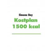 Kostplan 1500 kcal - E-bog Simone Bay