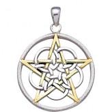 Vedhæng med Pentagram - 37mm u/kæde