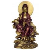Kuan-Yin figur siddende - 22cm
