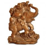 Happy Buddha på Elefant