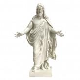 Thorvaldsens Kristus figur - 24cm - Hvid