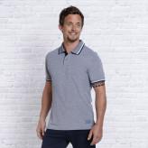 Polo Shirt - Blå - Namaste - Spirit of OM