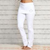 Yoga bukser med nederdel - hvid - Spirit of om