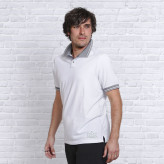 Polo Shirt - Hvid - Namaste - Spirit of OM