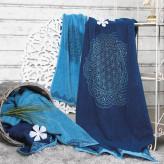 Håndklæde - Happy Flower of Life ocean - Spirit of Om