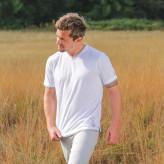 Herre T-shirt Hvid med V-hals - Spirit of om