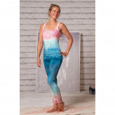 Yoga leggings - indigo/peach - Spirit of om