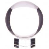 Krystalkugle - 100mm - med opsats - Krystalkugler