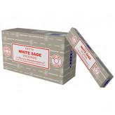 Satya White Sage - Hvid salvie røgelse - 15 gram - Røgelsespinde