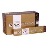 Golden Nag Chandan Røgelse - 15 gram - Indisk Røgelse