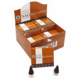 Golden Nag Palo Santo Røgelses kegle - 20 gram - Indisk Røgelse