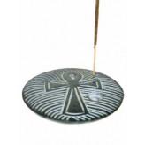 Røgelsesholder med Ankh kors - 10cm