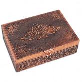 Tarotkort /Englekort æske med Lotus blomst - kobber look