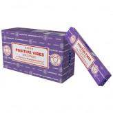 Satya Positive vibes røgelse - 15 gram - Røgelsespinde