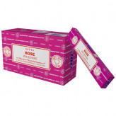Satya Rose røgelse - 15 gram - Røgelsespinde