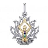 Chakra Lotus vedhæng - u/kæde