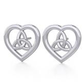 Ørestikker - Keltisk Hjerte / Triquetra - Treenighedssymbolet