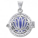 Engleklokke / Harmony ball med Lotus Blomst - u/kæde