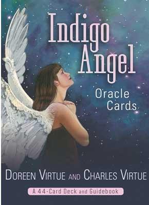Indigo angel - englekort - doreen virtue - m/engelsk brugervejl fra N/A fra bog & mystik