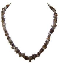 Halskæde med Labradorit - 45cm