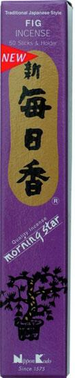 N/A Japansk røgelse - fig - morning star røgelsespinde på bog & mystik
