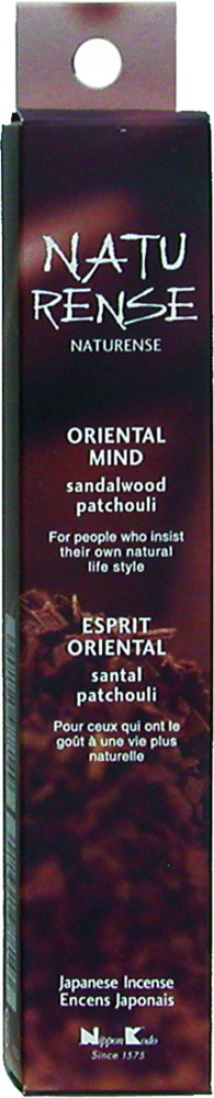 Naturense - Oriental Mind - Sandalwood & Patchouli - Japansk røgelse