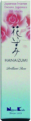 N/A – Hanaizumi  -  brilliant rose - japansk røgelse på bog & mystik
