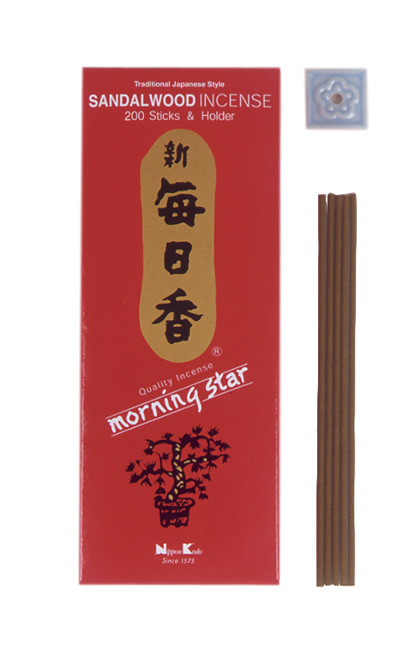Japansk røgelse - Sandalwood - Morning Star - Big Box - Røgelsespinde