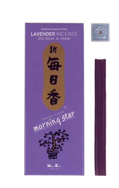 Image of   Japansk røgelse - Lavender - Morning Star - Røgelsespinde