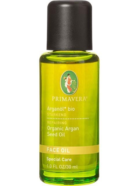 N/A – økologisk argan ansigts olie - 30ml - primavera fra bog & mystik