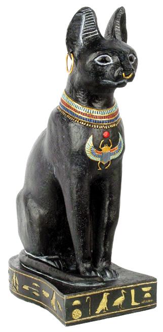 Image of   Egyptisk kat Bastet - 23cm - Egyptisk figur