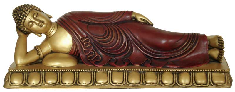 Image of   Buddha liggende